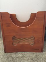 Wooden toy dog chest in Schofield Barracks, Hawaii
