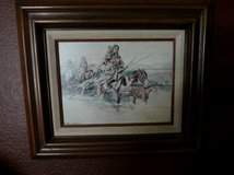 Framed Charles Russell Print in Ruidoso, New Mexico