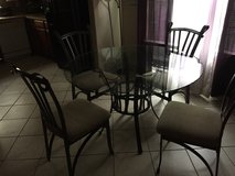 Cute glass dining table in Kingwood, Texas