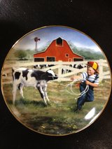 Little Farmhands Limited Edition Collector's Plate by Donald Zolan.  Tug o' War in Cadiz, Kentucky