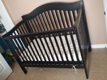 Delta 3-1 crib w/mattress and accessories in Fort Bliss, Texas