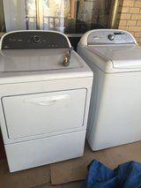 Whirpool washer and dryer in El Paso, Texas