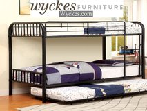 Twin/Twin Bunk bed With Trundle in Black, Grey, White New  $299 in Miramar, California