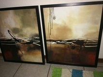 Abstract canvas paintings in Fort Bliss, Texas