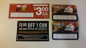 Tobacco Cigarette Marlboro Newport Skoal Coupons in St. Charles, Illinois