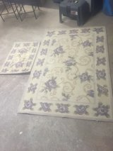 Two Wool Floral Rugs in Aurora, Illinois
