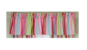 2 Window Valances Pink Teal Green Stripe Valance Lot Self Expression Brand in Houston, Texas