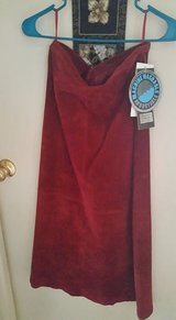 Women's Claret Red suede skirt in Barstow, California