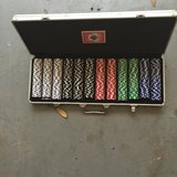 600 chip poker set in aluminum case in Conroe, Texas