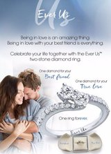 "Brand New from Jared's-  ""EVER US"" Engagement ring w/matching band in Quantico, Virginia"