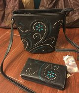 New Montana West Crossbody purse with matching wallet in Baytown, Texas