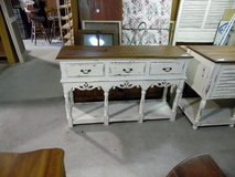 3 Drawer Buffet / Side Board - White Distressed Finish in Conroe, Texas