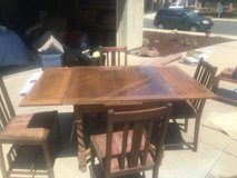 Antique dining table in Lake Elsinore, California