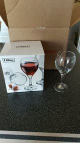 LIKE NEW 4 Count/Piece Set Of 10.5 Oz Libbey Catawba Red Wine Glasses W/ Box in Kissimmee, Florida