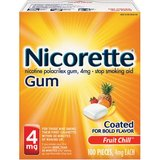 Nicorette Stop Smoking Aid Nicotine Gum, Fruit Chill Flavor, 4mg, 100 Pieces in Clarksville, Tennessee