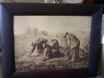 "Antique Sepia Print of ""The Gleaners"" by Jean-Francois Millet,Large Oak Frame in Naperville, Illinois"