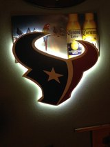 Texans 3D Wooden Logo with LED Display in Houston, Texas