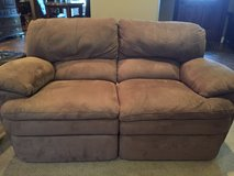 Suede Reclining Loveseat in Shreveport, Louisiana