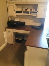 White-washed L-Desk with Hutch in Shreveport, Louisiana