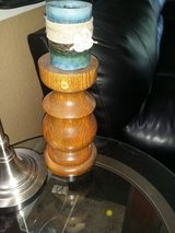 Solid wood pillar candleholders in Travis AFB, California