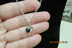 Black Onyx Silver Chain Necklace - Never Worn - REDUCED! in Kingwood, Texas