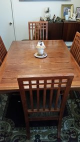 Beautiful Ashley Solid Oak Dining Room Table and 6 Chairs in Macon, Georgia