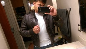 Abercrombie and Fitch Leather Bomber Jacket in Yuma, Arizona