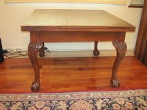 antique British walnut table in Okinawa, Japan