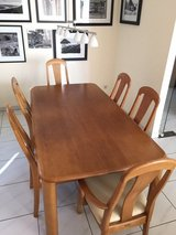 Solid hardwood dining table and six chairs in Wiesbaden, GE