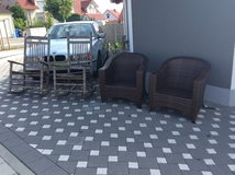 2 Cracker Barrel rockers & 2 wicker chairs in Ramstein, Germany