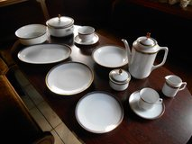 Bareuther Bavaria Porcelain (43 piece), gold plated in Ramstein, Germany