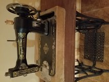 Antique White Rotary  Sewing Machine and Table in Conroe, Texas