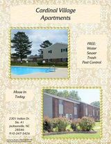 SPECIALS ENDING SOON! STOP BY TODAY! CARDINAL VILLAGE APTS! in Camp Lejeune, North Carolina