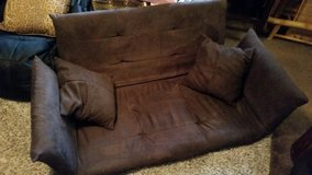 Brown / Microfiber Folding Floor Couch / Bed in Clarksville, Tennessee