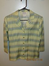 Versatile Pastel Plaid Blouse/Jacket in Chicago, Illinois