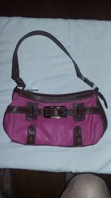 Chaps pink & brown purse with leather and gold color hardware in Dickson, Tennessee