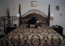 7-pc PAISLEY BROCADE KING-SIZE BEDSPREAD SET in Lakenheath, UK