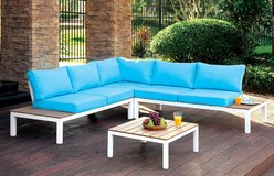 Blue Outdoor Patio Sectional in San Diego, California