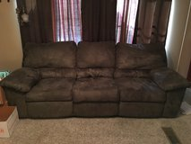 Microfiber Sofa with Dual Recliners in Coldspring, Texas