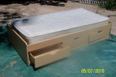 Captains Bed   Twin w/mattress and headboard in Fort Polk, Louisiana