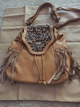 Leather with faux fur purse. in Travis AFB, California