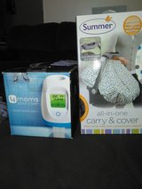 Baby carrier cover and 4moms bath spout cover in Colorado Springs, Colorado