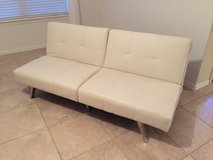 White Splitback  futon sofa bed sleeper couch living room lounger in Kingwood, Texas