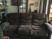 Brown microfiber couch, love seat, and chair in Fort Lewis, Washington