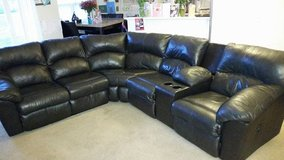 Leather Sectional in Fort Riley, Kansas