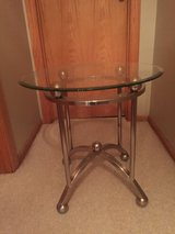 Glass End Table in Naperville, Illinois