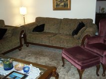 Sofa, Loveseat, Chair With Footstool in Quad Cities, Iowa