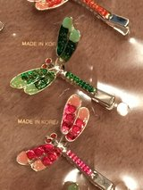 Dragonfly Glitter Hair Clips -NEW in Okinawa, Japan