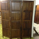 Trifold solid wood room divider in Alamogordo, New Mexico