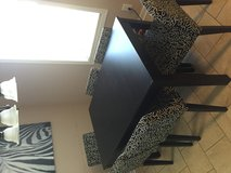 Black table with 6 chairs in Warner Robins, Georgia